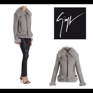giuseppe zanotti • NEW • suede & fur jacket